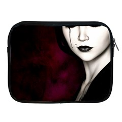 Goth Girl Red Eyes Apple iPad 2/3/4 Zipper Cases