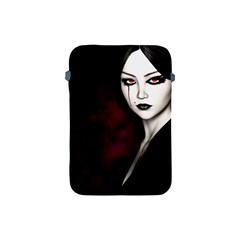 Goth Girl Red Eyes Apple iPad Mini Protective Soft Cases