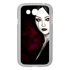 Goth Girl Red Eyes Samsung Galaxy Grand DUOS I9082 Case (White)