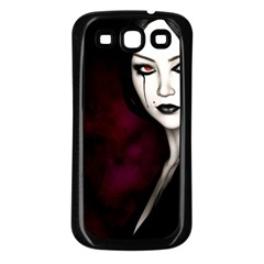 Goth Girl Red Eyes Samsung Galaxy S3 Back Case (Black)