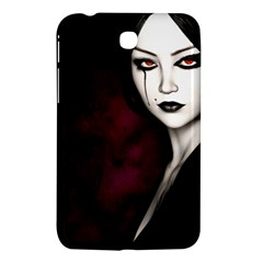 Goth Girl Red Eyes Samsung Galaxy Tab 3 (7 ) P3200 Hardshell Case