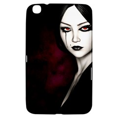 Goth Girl Red Eyes Samsung Galaxy Tab 3 (8 ) T3100 Hardshell Case
