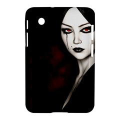 Goth Girl Red Eyes Samsung Galaxy Tab 2 (7 ) P3100 Hardshell Case