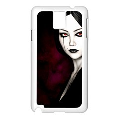 Goth Girl Red Eyes Samsung Galaxy Note 3 N9005 Case (White)