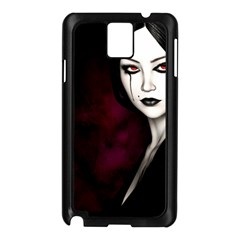 Goth Girl Red Eyes Samsung Galaxy Note 3 N9005 Case (Black)
