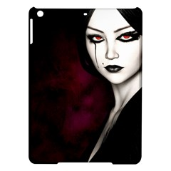 Goth Girl Red Eyes iPad Air Hardshell Cases