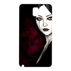 Goth Girl Red Eyes Samsung Galaxy Note 3 N9005 Hardshell Back Case