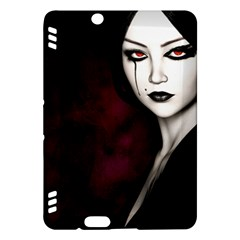 Goth Girl Red Eyes Kindle Fire HDX Hardshell Case