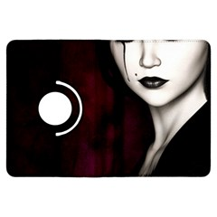 Goth Girl Red Eyes Kindle Fire HDX Flip 360 Case