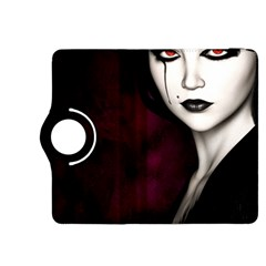 Goth Girl Red Eyes Kindle Fire HDX 8.9  Flip 360 Case