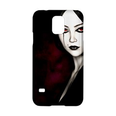Goth Girl Red Eyes Samsung Galaxy S5 Hardshell Case