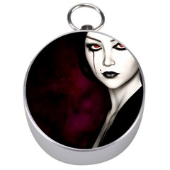 Goth Girl Red Eyes Silver Compasses
