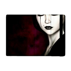 Goth Girl Red Eyes iPad Mini 2 Flip Cases