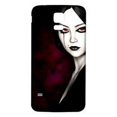 Goth Girl Red Eyes Samsung Galaxy S5 Back Case (White)
