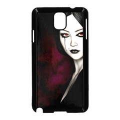 Goth Girl Red Eyes Samsung Galaxy Note 3 Neo Hardshell Case (Black)
