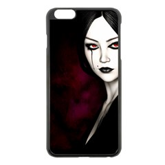 Goth Girl Red Eyes Apple iPhone 6 Plus/6S Plus Black Enamel Case