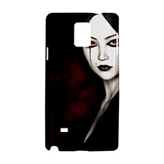 Goth Girl Red Eyes Samsung Galaxy Note 4 Hardshell Case