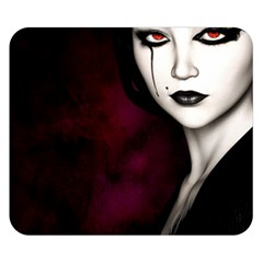Goth Girl Red Eyes Double Sided Flano Blanket (Small)