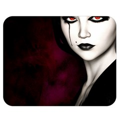 Goth Girl Red Eyes Double Sided Flano Blanket (Medium)