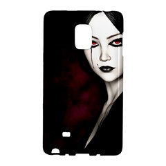 Goth Girl Red Eyes Galaxy Note Edge