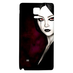 Goth Girl Red Eyes Galaxy Note 4 Back Case