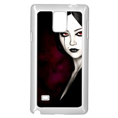 Goth Girl Red Eyes Samsung Galaxy Note 4 Case (White)