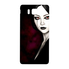 Goth Girl Red Eyes Samsung Galaxy Alpha Hardshell Back Case