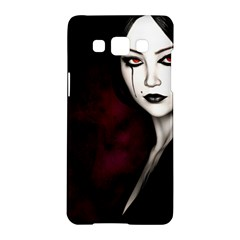 Goth Girl Red Eyes Samsung Galaxy A5 Hardshell Case