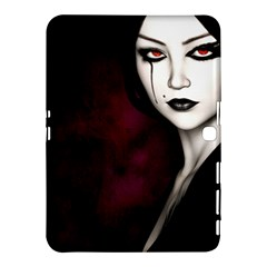 Goth Girl Red Eyes Samsung Galaxy Tab 4 (10.1 ) Hardshell Case