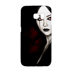 Goth Girl Red Eyes Galaxy S6 Edge