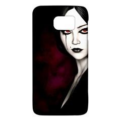 Goth Girl Red Eyes Galaxy S6