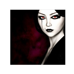 Goth Girl Red Eyes Small Satin Scarf (Square)