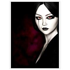 Goth Girl Red Eyes Drawstring Bag (Large)
