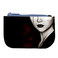 Goth Girl Red Eyes Large Coin Purse