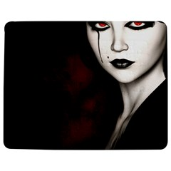 Goth Girl Red Eyes Jigsaw Puzzle Photo Stand (Rectangular)