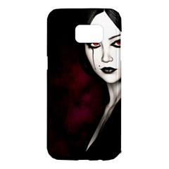 Goth Girl Red Eyes Samsung Galaxy S7 Edge Hardshell Case