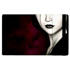 Goth Girl Red Eyes Apple iPad Pro 12.9   Flip Case