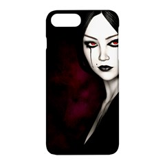 Goth Girl Red Eyes Apple iPhone 7 Plus Hardshell Case