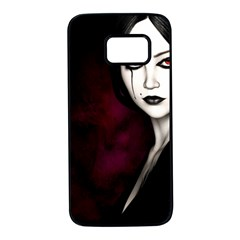 Goth Girl Red Eyes Samsung Galaxy S7 Black Seamless Case