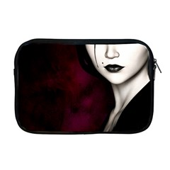 Goth Girl Red Eyes Apple MacBook Pro 17  Zipper Case