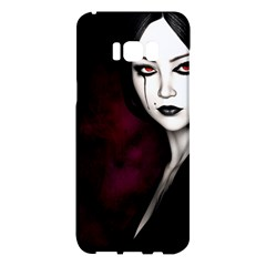Goth Girl Red Eyes Samsung Galaxy S8 Plus Hardshell Case