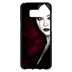 Goth Girl Red Eyes Samsung Galaxy S8 Plus Black Seamless Case