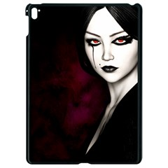 Goth Girl Red Eyes Apple iPad Pro 9.7   Black Seamless Case