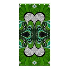 Fractal Art Green Pattern Design Shower Curtain 36  X 72  (stall)