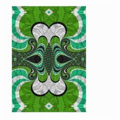 Fractal Art Green Pattern Design Large Garden Flag (two Sides)