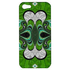 Fractal Art Green Pattern Design Apple Iphone 5 Hardshell Case