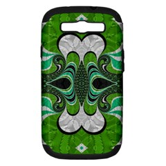Fractal Art Green Pattern Design Samsung Galaxy S Iii Hardshell Case (pc+silicone)