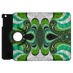 Fractal Art Green Pattern Design Apple iPad Mini Flip 360 Case