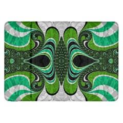 Fractal Art Green Pattern Design Samsung Galaxy Tab 8 9  P7300 Flip Case