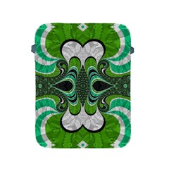 Fractal Art Green Pattern Design Apple iPad 2/3/4 Protective Soft Cases